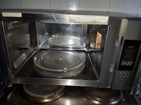 onn microwave and grill combi 900 watt stainless