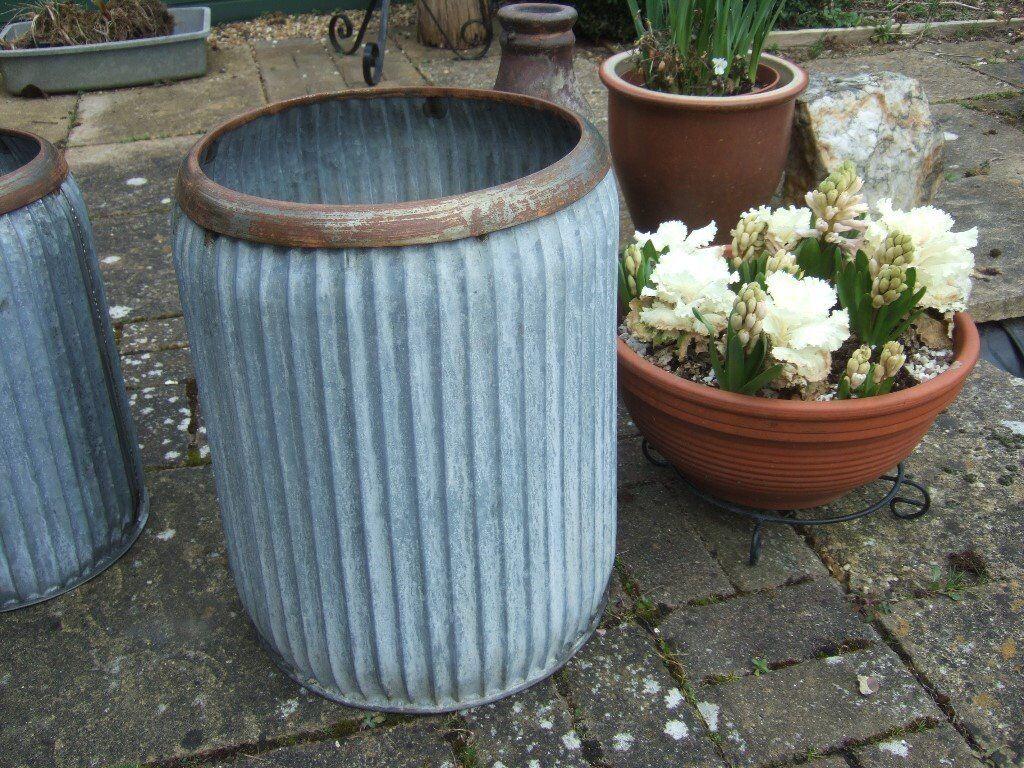 Vintage Rustic Style Galvanised Metal Garden Planter Good Quality ...