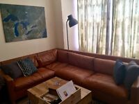 Corner Sofa- mid tan, Chester collection at Habitat
