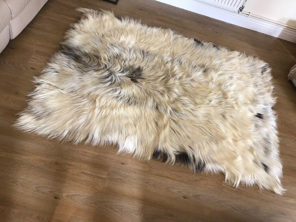 Genuine Lined Mongolian Goatskin Rug