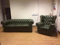 Original Vintage Chesterfield Sofa & Fireside Chair c.1967