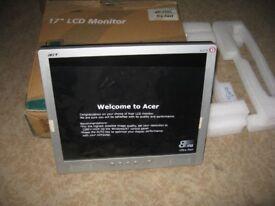 "LCD Monitor -Acer AL174 PC Desktop Office 17"" - ultra fast New"