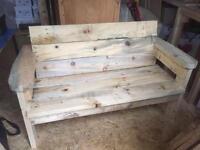 Solid garden bench