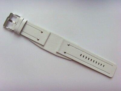 FOSSIL Original Ersatz Lederarmband JR9681 Uhrband watch strap weiß white ()