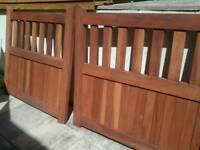 Solid mahogany gates brand new
