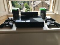 Xbox One 500GB Black Console, 4 Controllers, Games and Much More