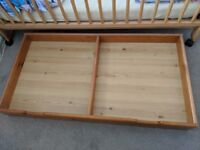 Cot bed trundle storage drawer