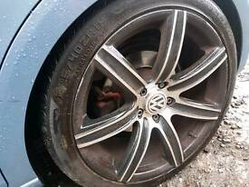 Vw seat audi alloy wheels decent tyres Nice and straight