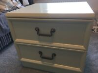 bedroom furniture set, two bedside tables, chest of draws, dressing table