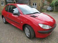 Peugot 206 1124cc - 3 door hatchback 65k Miles 2003 - MoT until June 2017