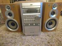 JVC stereo CD player Cassette tape player