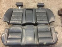 Bmw e34 M5 blue rear seat