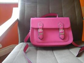Pink Leather Satchel For Sale