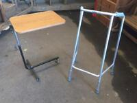 Zimmer frame and Over bed table, delivery available