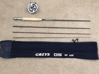 9' Greys GS (#5) Fly Rod plus Modula 55 Reel. As New.