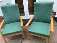 Pair of fireside armchairs
