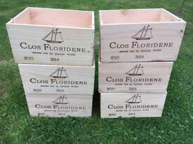 wooden wine boxes, great for Christmas Hampers