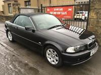 BMW 320 CI SE CONVERTIBLE (03) 1 YEAR MOT , FULL SERVICE HISTORY, WARRANTY £1995