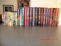 Terry Pratchett books: 17 hardback and 9 paperback.