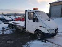 2002 MERCEDES SPRINTER 311 CDI LWB WHITE RECOVERY TRUCK BEVERTAIL 12 MONTHS M.O.T