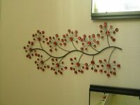 Lovely red wall hanging decoration. Look good in any room