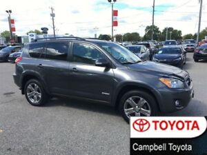 2012 Toyota RAV4 SPORT--HEATED LEATHER--4X4--MOON ROOF--LOW KM'S