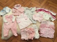 Gorgeous load of Mothercare baby girls newborn clothes
