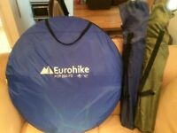 Eurohike single pop tent and 2 fold out chairs