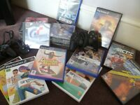 PLAYSTATION 2 +Games+2 x controllers (Swap Electric drill)