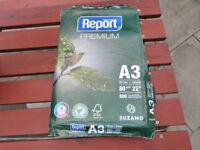 Suzano Report Multipurpose White Copier Paper A3 80gsm 500 Sheets