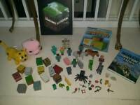Large collection of Minecraft toys plus books