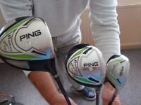 Ping Rapture V2 Driver 5 wood and rescue