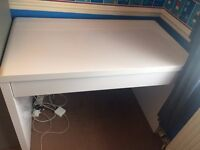Desk Ikea White With Draw