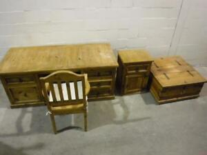 Matching furniture set : desk ,chair ,end table and chest