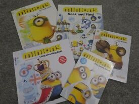 x5 MINIONS BOOKS includes sticker book Christmas Gift BRAND NEW £5