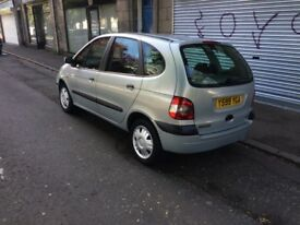 automatic 2001 renault scenic mot until february no advisories low mileage