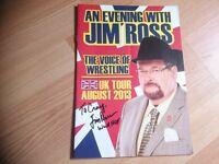 Jim Ross Autographed Tour Program