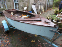 Marine ply sailing dinghy with trailer