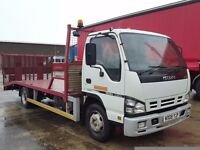2008-08 isuzu nqr 70 fitted shawtrack beavertail and winch fliptoe ramps plus vat on final price