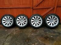 BMW 6Series 18inch all weather winter alloys wheels with run flats pirelli P7 Cinturato 245 45 R 18