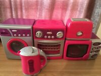 Toy kitchen set-microwave,cooker,washing machine,toaster,kettle
