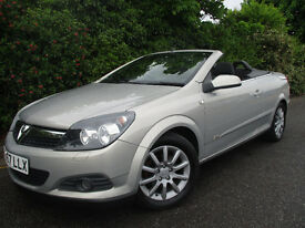 2007 57 ASTRA CONVERTIBLE SPORT 1.8 *76,000 MILES* *NEW MOT* TWIN TOP VAUXHALL FORD FOCUS