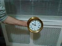Heavy brass clock
