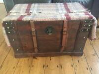 Rustic vintage storage chest