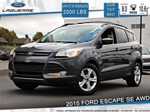 2015 Ford Escape SE**AWD*CUIR*TOIT*NAVI* CAMERA*BLUETOOTH*A/C**