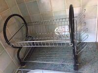 dish rack drainer 2-tier