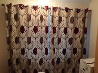 Nearly-new Dunelm Lalique red curtains