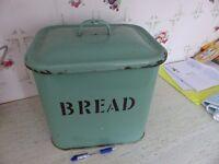 Original 1950's Enamel Bread Bin