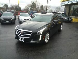 2015 Cadillac CTS CTS4 AWD, LEATHER, SUNROOF, NAVIGATION, 3.6 V6