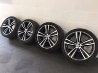 Genuine BMW 3 4 series 19 inch 442 M Sport alloy wheels and tyres F30 F31 F32 F33 F34 E92